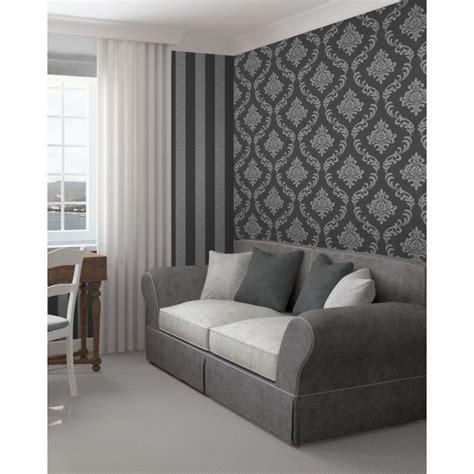 Black And Grey Home Decor by Fine Decor Wallpaper 2017 Grasscloth Wallpaper