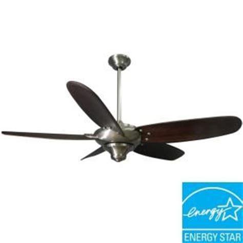 ceiling fan that looks like airplane propeller hton bay altura 56 in brushed nickel ceiling fan 69156
