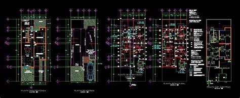 single storey social interest house 2d dwg project