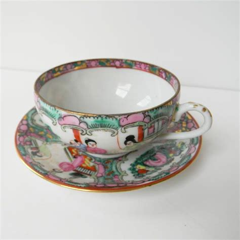 Tea Set Hk Murah intricate tea cup and saucer set decorated in hong kong japan painted gold gild characters