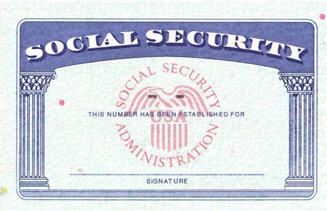 security id card template social security card template best letter sle