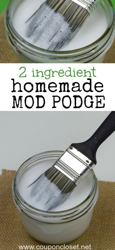diy home projektideen how to make mod podge only 2 ingredients