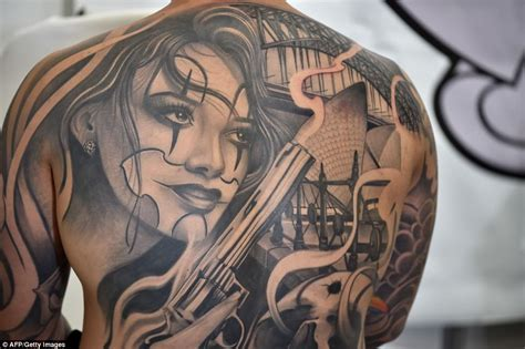 thousands of body art fans attend sydney tattoo festival