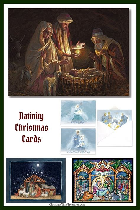 cards with nativity nativity cards christmastimetreasures