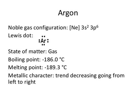 argon state of matter periodic table project