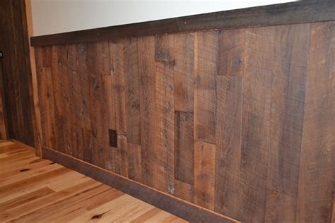 Wood Wall Wainscoting Reclaimed Wood Paneling Enterprise Wood Products