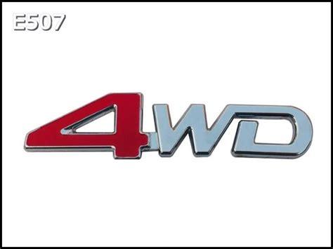 Murmer Emblem Set Kia 11cm emblemat napis 4wd emblemat samochodowy na karoseri苹 chromowany na ta蝗mie 3m zamiennik