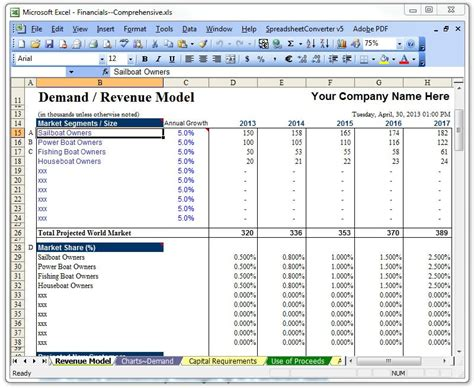 business plan spreadsheet template raise capital bizplanbuilder 174 business plan software template