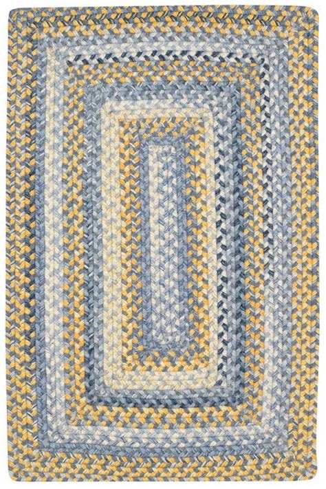 Capel Braided Rugs Sale by Capel Prairie Prairie Blue Yellow Area Rugs Rugs