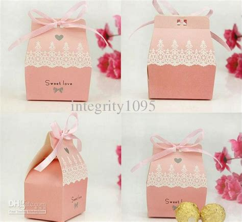 Candybox Paperbag Tingjing Wedding Sangjit wedding favor boxes gift paper bags boxes pattern wedding box gift card box for