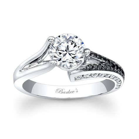 barkev s black white engagement ring 7873lbk