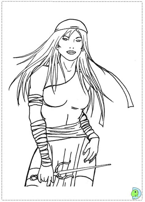 marvel elektra coloring pages elektra mavel colouring pages