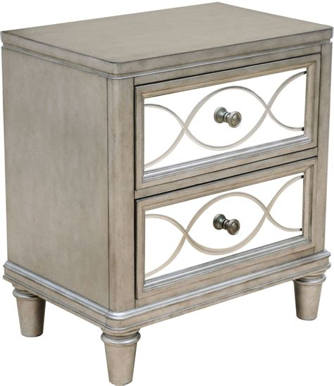 Glass Nightstand cut glass silver nightstand s014 050 samuel