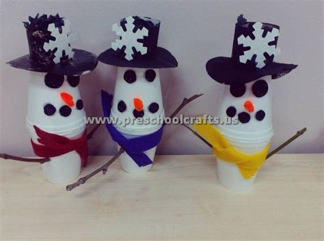 Paper Cup Crafts For - snowman craft ideas from paper cup preschool crafts
