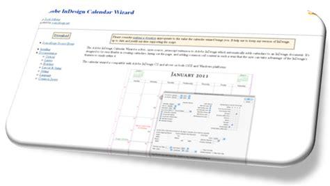 indesign calendar wizard adobe s indesign scripts plug ins step up your digital