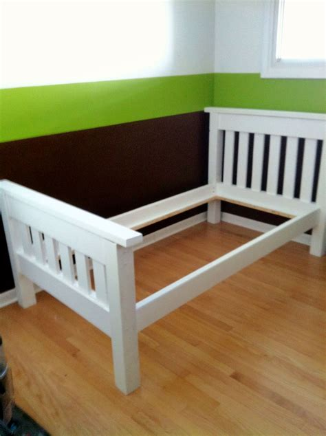 twin bed frame for girl finished the simple bed twin do it yourself home