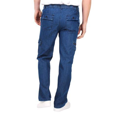 ebay jeans mens denim combat trousers jeans chinos elasticated waist