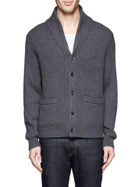 Monaco Cardigan lyst club monaco shawl collar cardigan in gray for