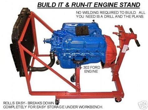 ford    chevy chrysler engine test stand plans bre  pinterest chevy ps  engine