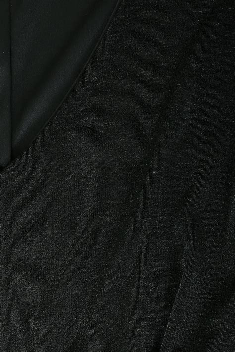 Small Nag Brilante Eds Black robe maxi brillante avec manches kimono