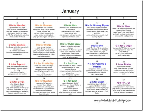 lesson plan on new year for preschoolers preschool alphabet preschool plan for january