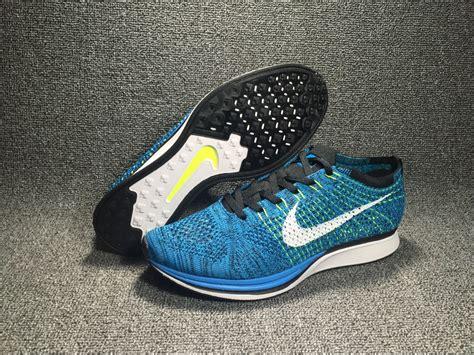 New Sepatu Running Nike Flyknit Racer Black White nike flyknit racer blue glow blue glow white black volt for sale new jordans 2018