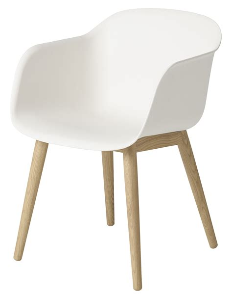 Fiber Armchair Wooden Feet White Natural Oak Feeet