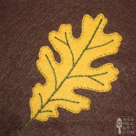leaf applique oak leaf applique block 187 wee folk