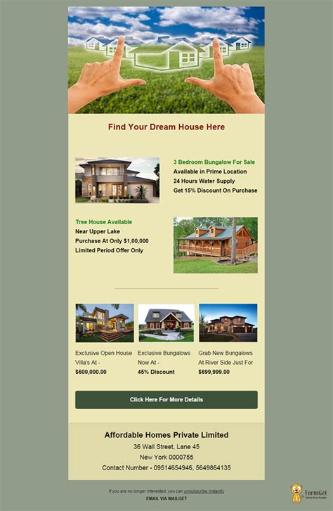 Real Estate Email Templates feature packed 10 free real estate email templates mailget
