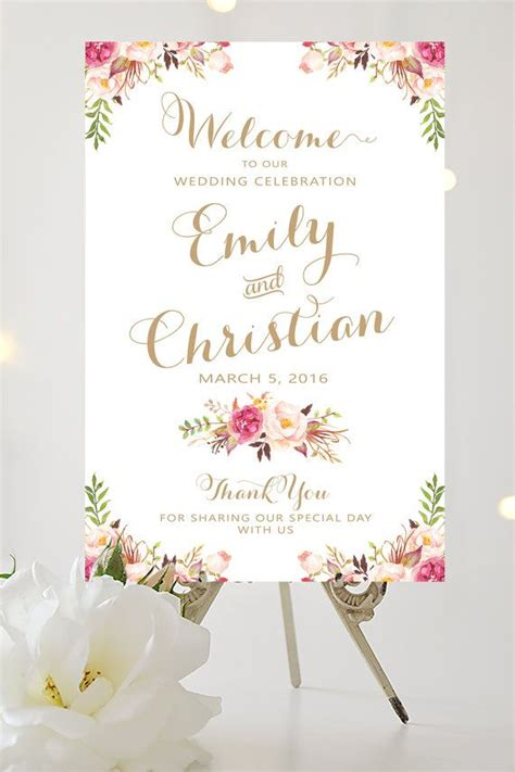 wedding  sign large wedding poster