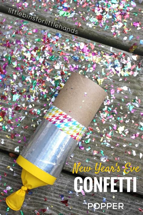 how to create new year decorations confetti poppers craft for new years activities