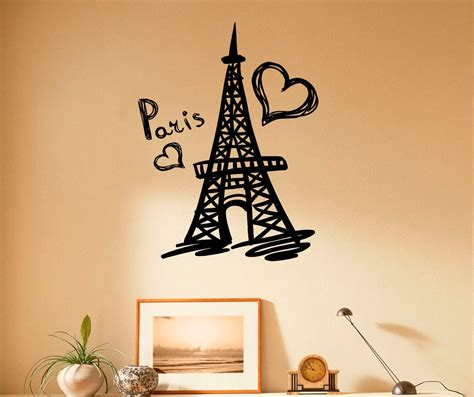 paris wall stickers for bedrooms paris eiffel tower wall decal vinyl stickers paris symbol home