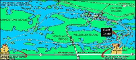 map thousand islands sam boat tours 1000 islands