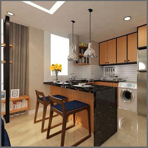 desain dapur minimalis dengan meja bar desain interior dapur minimalis sederhana nan kecil
