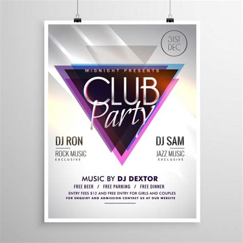 party flyer design kostenlos club party musik flyer einladung vorlage plakat download