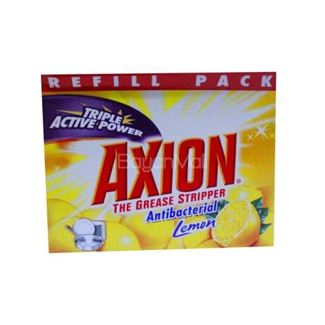Lemob Reffil Pouch 800ml axion anti bac lemon refill pack 350g