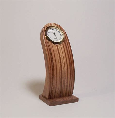 wood clock designs zebra wood desk clock thin streamlined design by