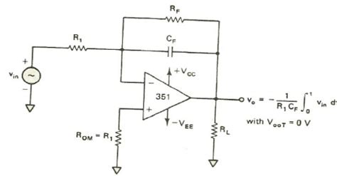 integrator circuit using op design integrator circuit design derivative op circuit wiring diagram odicis org