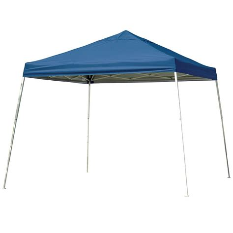 Sports Canopy 12x12 Sports Series Slant Leg Canopy Blue Shelterlogic