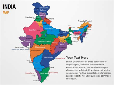 India Map Powerpoint Map Slides India Map Map Ppt Slides Powerpoint Map Slides Of India Map India Map Ppt