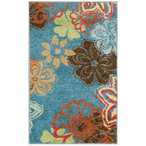 overstock blue rug nourison overstock perception blue 2 ft 3 in x 3 ft 9 in accent rug 144539 the home depot