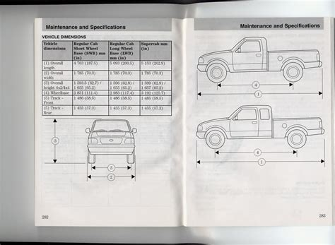 ford ranger bed size what are the dimensions of a ranger chassis page 2