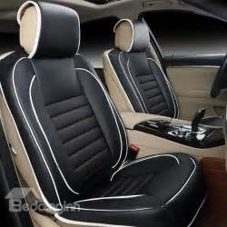 Car Leather Seat Covers Shopping India Concise And Classic Pu Leather Single Colored Universal