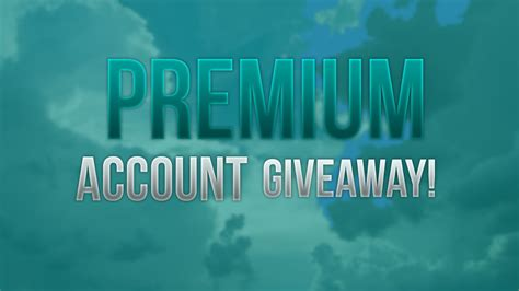 Minecraft Premium Giveaway - minecraft premium account giveaway zatvoreno youtube