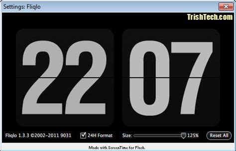 turn  pc   flip clock