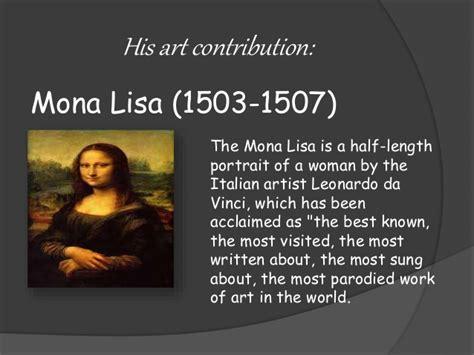 artist biography powerpoint leonardo da vinci powerpoint presentation