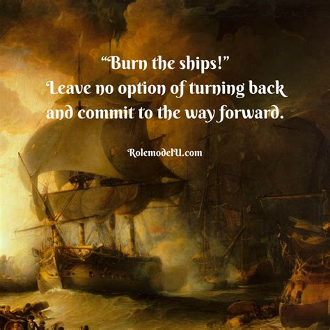 burn the boats story burn the ships happy new year everyone may your 2018 be