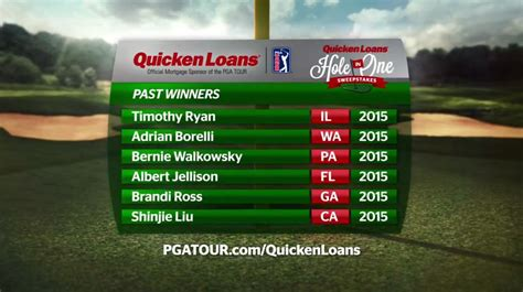 Pga Tour Hole In One Sweepstakes - 2016 quicken loans hole in one sweepstakes tv commercial winzily