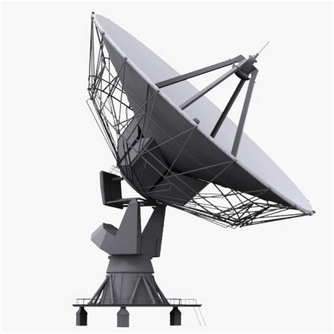 model based satellite antenna