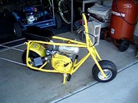 Mini Bike Start Up And Wheelie